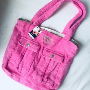 New! Roxy Pink Terry Tote